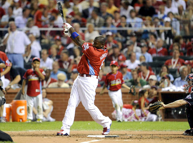 Pujols wasn't the only local entrant in the Derby. Phillies slugger Ryan Howard grew up in the St. Louis area. He hit 15 homers on the night and bowed out in the second round.