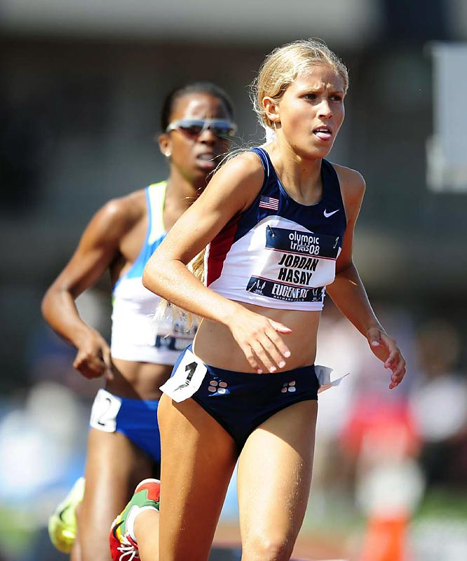 Though her Goldlilocks hairstyle remains her trademark, the 5-foot-4 Californian captured onlookers' attention for her times the last four years. In July 2008, she broke the national high school record for the 1,500 meters with a time of 4:14.50 during a semifinal heat at the U.S. Olympic Trials at the University of Oregon.