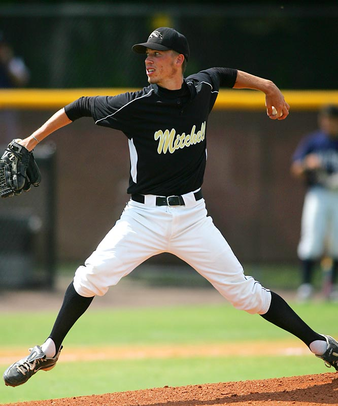 The national spotlight found this Florida signee during the spring when he pitched four consecutive no-hitters. The lanky lefthander surrendered a double on an 0-1 count in what turned out to be his last high school game as Mitchell was eliminated from the playoffs by Gaithers High, 9-4.