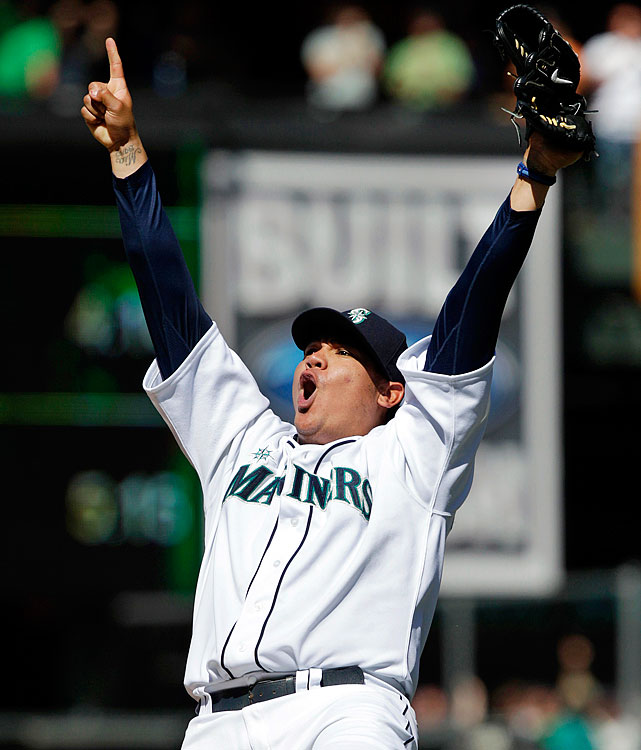 Hernandez pitched the Seattle Mariners' first perfect game and the 23rd in baseball history, overpowering the Tampa Bay Rays in a brilliant 1-0 victory. The Mariners' ace and former AL Cy Young Award winner has long talked of his desire to achieve pitching perfection. He finally accomplished it against the Rays, striking out the side twice and finishing with 12 strikeouts.  It was the third perfect game in the 2012 MLB season.