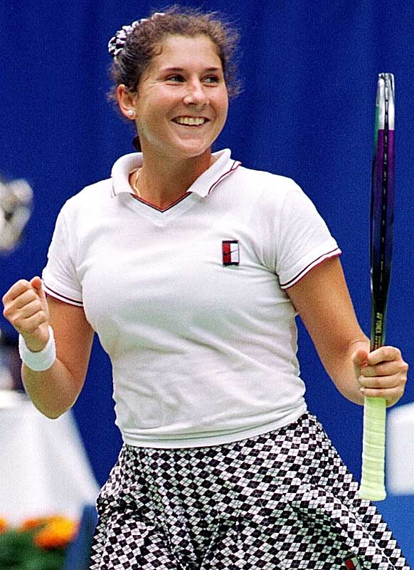 From January 1991 to January '93, Seles won seven of the eight majors she entered. The last of those victories came at the '93 Australian Open, where she rallied past Steffi Graf 4-6, 6-3, 6-2 in the final.
