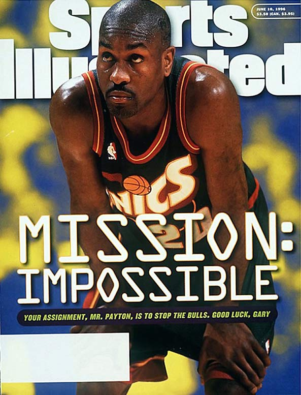 """In the 1993 Western Conference Finals, Payton squared off against Phoenix Suns point guard Kevin Johnson. Supposedly, after playing his typical lock down defense, Payton received a call from his cousin saying he was """"holding Johnson like a baseball in a glove."""" The nickname fit."""