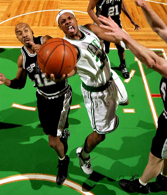 "In 2001, Paul Pierce's third year in the NBA, the Boston Celtics suffered a 112-107 loss to the Lakers in Los Angeles.  Boston may have lost, but Pierce was 13 for 19, scoring a stellar 42 points.  ""Take this down,"" Shaquille O'Neal said to a Boston reporter after the game.  ""My name is Shaquille O'Neal, and Paul Pierce is the [expletive] truth. Quote me on that, and don't take nothing out. I knew he could play, but I didn't know he could play like this. Paul Pierce is the truth.""  Since then, Paul Pierce is otherwise known as The Truth."