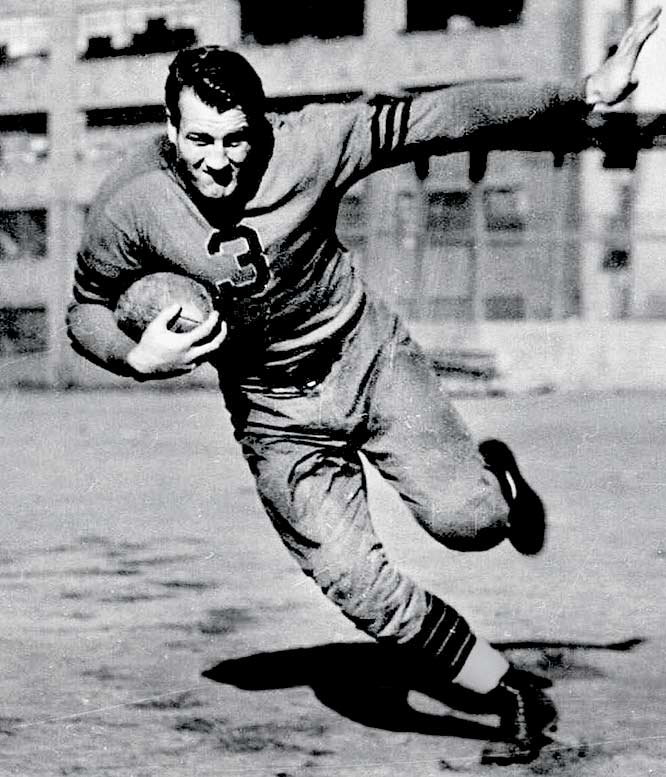 "Nagurski was nicknamed ""Bronko"" by his first teacher, who was unable to properly pronounce his Ukranian first name.  Bronko helped the Chicago Bears take home championships in 1932 and 1933, was voted All-Pro three times and was voted into the Pro Football Hall of Fame as a charter member in 1963."
