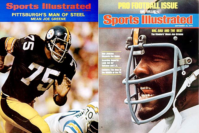 "There's debate whether Joe Greene took his nickname from his alma mater, the North Texas State Mean Green, or if he was the inspiration for their name, but either way, he left college with a surname that fit his no-holds-barred style. The Hall of Fame defensive tackle was the cornerstone of Pittsburgh's ""Steel Curtain"" defense that captured four Super Bowl titles."