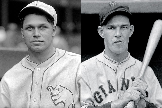 Jimmie Foxx, Mel Ott. <br><br>The greatest two-player class in Hall of Fame history, Foxx and Ott combined for 1,045 career home runs, a figure surpassed by only one other duo (yet to come on this list). Just one other class of any size surpassed Foxx-Ott's homer total; 1980 inductees Al Kaline, Duke Snider and Chuck Klein combined for 1,106 homers, just 61 more than Foxx & Ott.