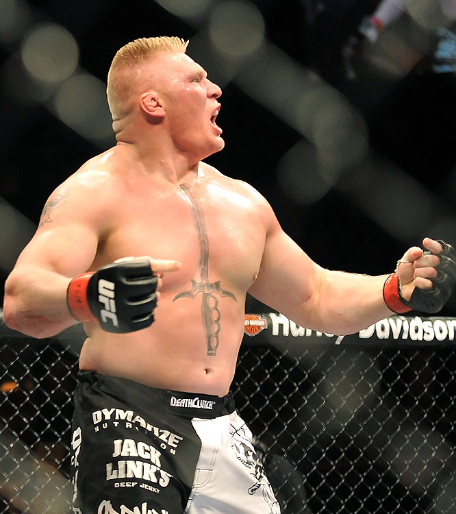 After finishing Frank Mir in Round 2, Brock Lesnar launched into an over-the-top celebration that earned a chorus of boos from the crowd.