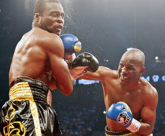 Bernard Hopkins became boxing's oldest champion in history by defeating Jean Pascal in a unanimous decision. At 46, Hopkins claimed the WBC light heavyweight title, becoming the oldest boxer to hold a major world belt since George Foreman took the heavyweight title in 1994.