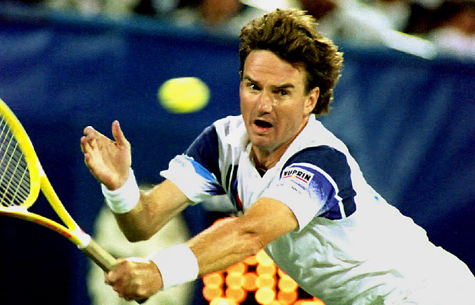 After a left wrist injury dropped his ranking to No. 936 a year prior, Connors regained his old form in 1991, highlighted by his defining semifinal run at the 1992 U.S. Open. The tournament pinnacle was Connors' come-from-behind, five-set victory over Aaron Krickstein -- on Connor's 39th birthday no less.
