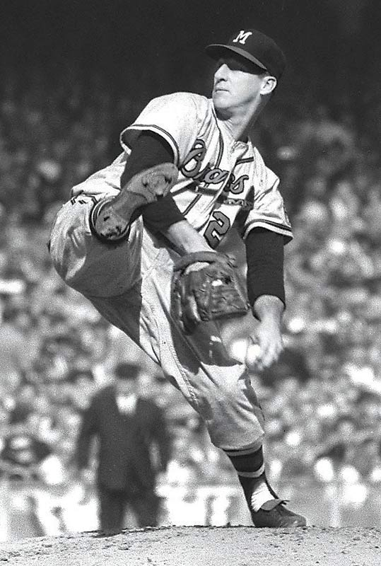 At 42, the Hall of Fame southpaw goes 23-7 with a 2.60 ERA  for the Milwaukee Braves.