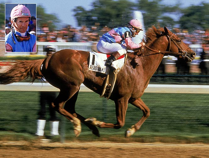"""If Jack Nicklaus can win the Masters at 46, I can win the Kentucky Derby at 54,"" said Shoemaker before the 1986 Kentucky Derby. That he did, riding Ferdinand to a 2 1/2 length victory and becoming the oldest jockey in history to win the Run for the Roses."