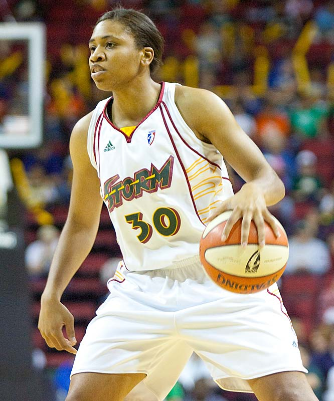What's more impressive: the Storm defeating Sacramento (69-56) and Minnesota (72-62); the fact that it did so without Lauren Jackson (strained left Achilles tendon) or the career-high 18 points Camille Little scored vs. the Lynx and the four straight points Tanisha Wright (pictured) ticked off down the stretch to help Seattle leapfrog Minnesota for second place in the West? If you answered all of the above, give yourself a gold star.<br><br>Next three: 7/22 vs. Los Angeles; 7/28 at San Antonio