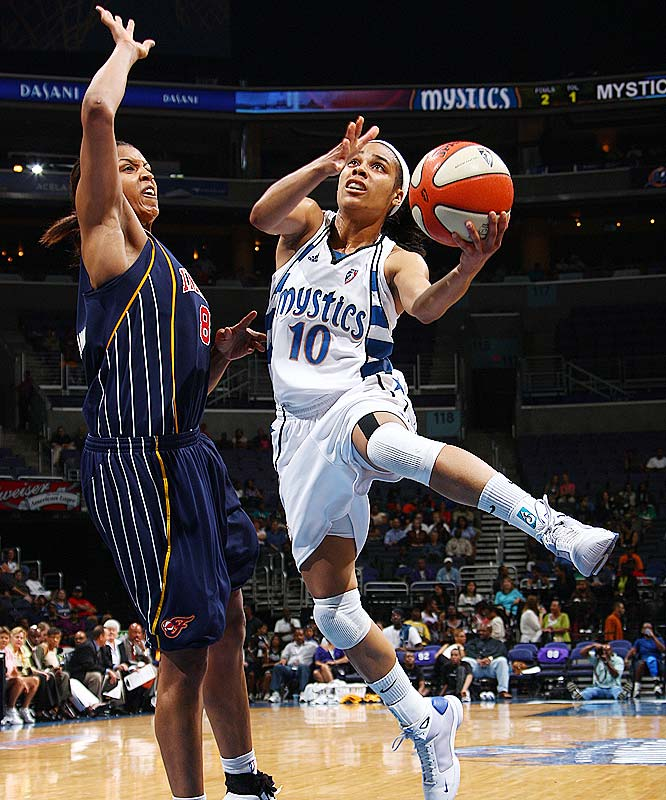 After playing facilitator for most of the season, Lindsey Harding (pictured) let her scoring brilliance shine through Saturday against New York. The Lynx castoff scored 23 points, including two free throws with 8.2 seconds left, to make the difference in a 68-67 Mystics victory. She had another great night on Tuesday against the red-hot Fever, posting 17 points, five rebounds and six assists. But her seven turnovers kept the Mystics from dealing the Fever a second straight loss.<br><br>Next three: 7/23 vs. Chicago; 7/26 vs. Sacramento; 7/28 at Indiana