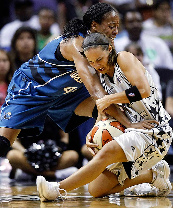 A runner-up for the league MVP in '07, Becky Hammon (pictured) remains inextricably linked to the Silver Stars' fortunes. After dropping two games while their star point guard was playing overseas for the Russian national team, the defending Western Conference champions have won two of their last three with Hammon back in the fold. She averaged 20.3 points, 3.7 rebounds, 4.7 assists and 2.3 steals in games against Sacramento, Phoenix and Washington.<br><br>Next three: 7/3 vs. Chicago; 7/7 at Seattle; 7/10 at Minnesota