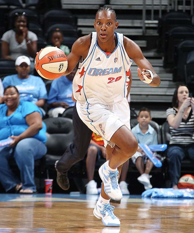 Sancho Lyttle (pictured) is the unsung hero of the Dream's surprise season. Brought in from Houston with the first pick in the in the dispersal draft last December, the 6-4 forward is in the throes of her finest season in her six years as a pro. She leads the Dream in scoring (13.1 ppg), ranks second in the league in field-goal percentage (58.6 percent) and fifth in rebounding (7.0 rpg). Swingwoman Iziane Castro Marques is doing her part too -- she hung 31 points on Minnesota on Tuesday night, albeit in a losing effort.<br><br>Next three: 7/3 vs. Washington; 7/5 at Indiana; 7/7 vs. Connecticut