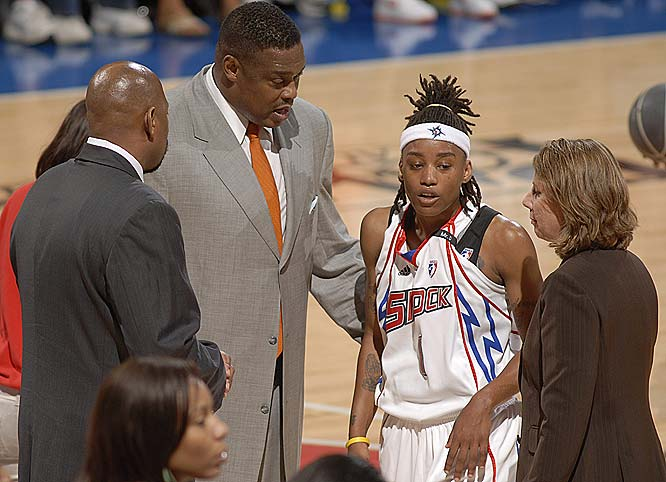 It took four games and many adjustments to the lineup for Rick Mahorn to get his first win as head coach. His savviest was moving rookie Shavonte Zellous (pictured) from the starting lineup back to the bench, where she gave her team a huge boost in her last two games. After posting a career-high 25 points, six rebounds and three steals in a 96-86 defeat at Atlanta last Friday, she came through with 18 points, 4 boards and two steals in a 86-72 season-saving win against Sacramento on Sunday.<br><br>Next three: 7/2 at New York; 7/5 vs. Connecticut; 7/11 at Connecticut