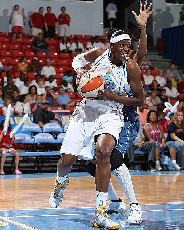 Just when you thought the Sky's offense was a two-woman production of Candace Dupree (14.9 points per game, 5.8 rebounds per game) and Jia Perkins (17.3 ppg, 4.6 apg), now Sylvia Fowles (pictured) is starting to get into the action. Already the league's top rebounder with 9.0 per game, Fowles raised her scoring average 12.3 points with 60.0 percent shooting in wins over Washington and Sacramento. Still, Chicago better hope she has another gear as it approaches a grueling West Coast swing.<br><br>Next three: 7/3 at San Antonio; 7/7 at Sacramento; 7/8 at Phoenix