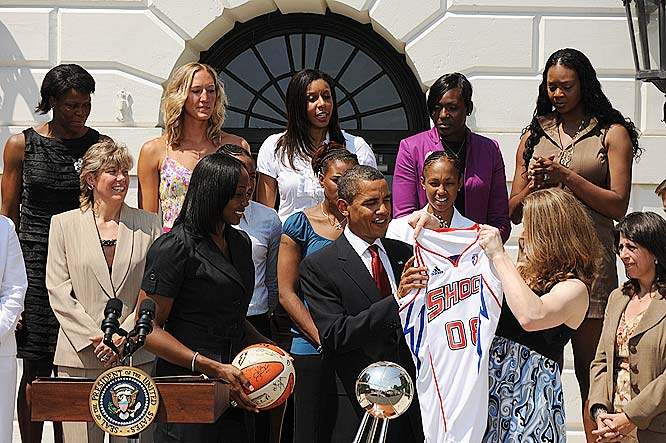"After suffering a tough overtime loss to Atlanta last Wednesday, the defending league champs got a chance to feel like winners on Monday, when they traveled to the White House to be honored for besting the field last year. President Barack Obama found it delightful that his young daughters, Sasha and Malia, could ""see me watching SportsCenter and they see young women who look like them on the screen.""<br><br>Next three: 7/31 vs. Minnesota; 8/2 vs. Connecticut; 8/4 vs. New York"