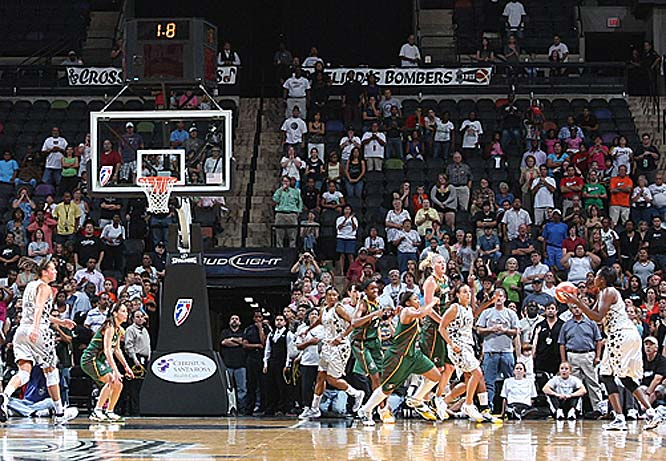 "Any chance we can get a recount on that Western conference Player of the Week vote? Nothing against Seattle's Sue Bird, but where's the love for Sophia Young? After posting 24 points in 25 minutes in a victory over Indiana last Thursday, she hit a 21-foot buzzer-beater off of a Becky Hammon feed to lift the Silver Stars to a 74-71 victory over Bird's Storm on Tuesday. ""I didn't make hardly any of my shots the whole game,"" said Young, who had gone 2-for-6 before hitting that game-winner. ""They helped on Becky [on the final play]. I was just spotting up, trying to get ready to shoot.""<br><br>Next three: 7/30 at Sacramento; 8/1 at Seattle; 8/4 at Los Angeles"