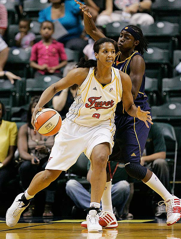 Is it just us, or has Tammy Sutton-Brown (pictured) seriously raised her game since Yolanda Griffith went down two games into the season with a torn left Achilles tendon? Sutton-Brown, who averaged 18.0 points (on 52.0 percent shooting), 11.5 rebounds and 3.0 blocks in Fever wins over Connecticut (67-53) and Atlanta (78-74) last week, was named the Eastern Conference's Player of the Week on Monday.  In addition to leading the league in rebounding, the ninth-year center was one of two players to average a double-double during that span. (Minnesota's Nicky Anosike was the other.)<br><br>Next three: 7/10 at Chicago; 7/15 vs. Chicago; 7/17 vs. Atlanta