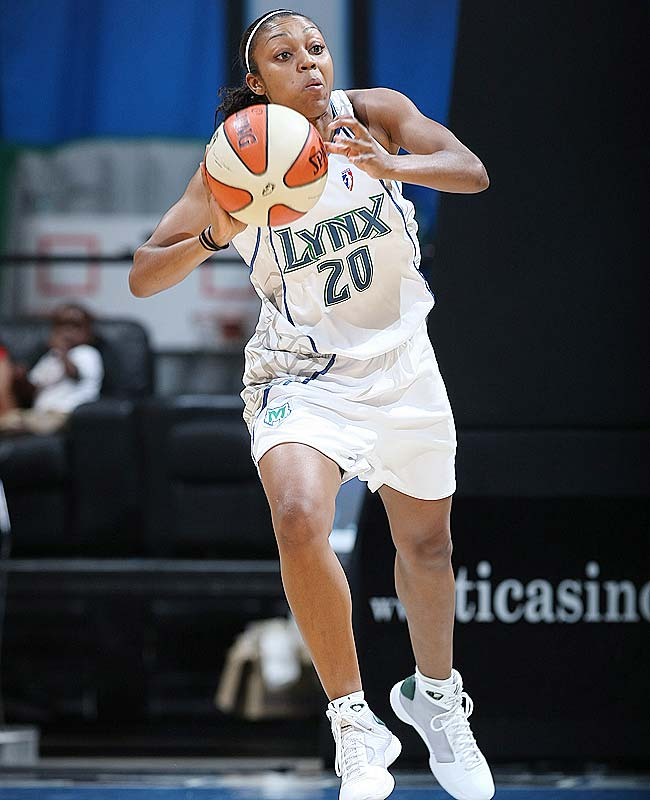 It was only a matter of time before rookie Renee Montgomery (pictured) proved why the Lynx made her the fourth overall pick in April's draft. After spending most of the season finding her bearings -- while pitching in a few timely contributions here and there -- the crafty point guard scored a season-high 22 points to help Minnesota rally to a 96-94 overtime victory over Washington on Tuesday. Even more impressive is that she scored 16 of those points in the last two minutes of regulation and overtime, showing that same ability to thoroughly dominate the late stages of a game that defined her senior season at Connecticut.<br><br>Next three: 7/10 vs. San Antonio; 7/12 at San Antonio; 7/15 vs. Atlanta