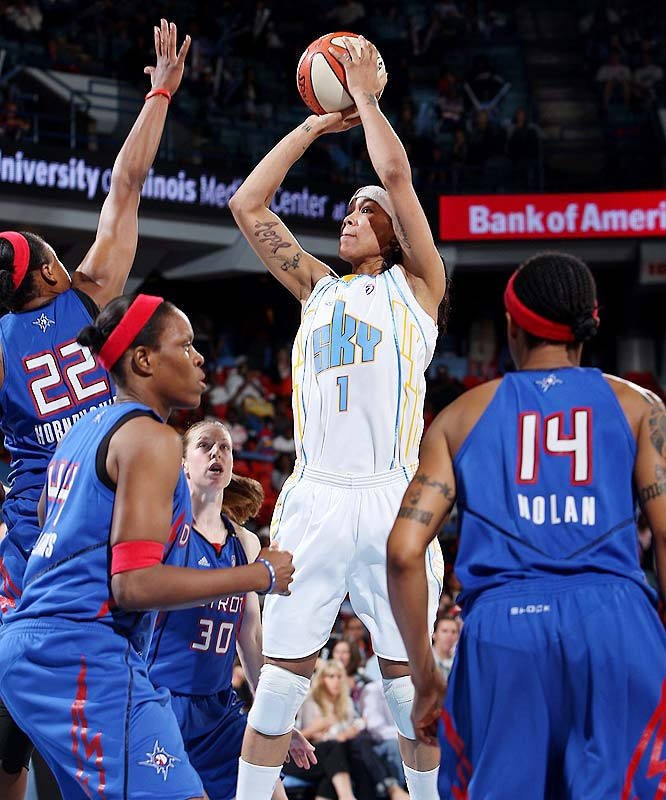 "If the Sky's postseason pursuit were any more tense it would require a dramatic score. After stringing together a pair of wins two weeks ago, Tamara Young (pictured) and the Sky suffered consecutive losses to Shock (76-67) and Sparks (75-63). Against Los Angeles, Chicago kept things close and was within four points in the fourth quarter but struggled to make shots down the stretch. ""When you miss the wide-open shot and then you don't get back on defense and they get an easy basket, it's pretty tough,"" Sky coach Steve Key said.<br><br>Next three: 8/28 vs. New York; 8/30 at New York; 9/4 vs. Washington"