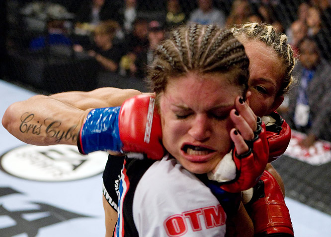 While Carano brought recognition, Cyborg brought aggression.