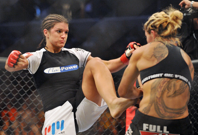The only statistic Carano exceeded in was leg kicks, 67 percent to Cyborg 60 percent.