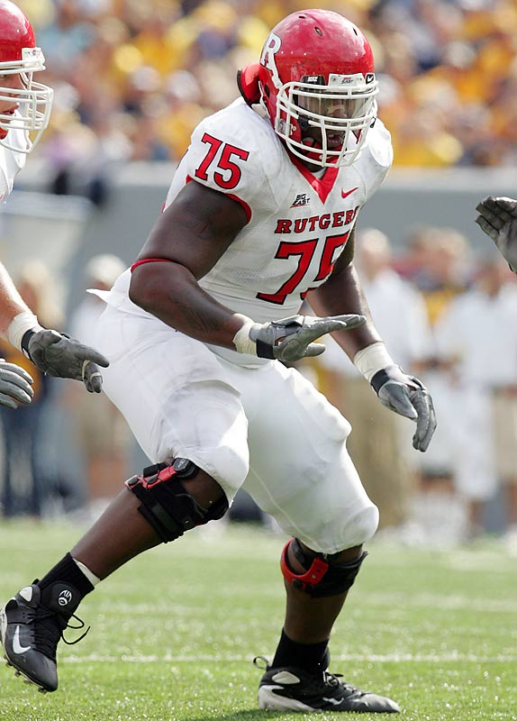 The star tackle and Outland Trophy candidate got a rude awakening in camp when coach Greg Schiano bumped him to second string for failing to make weight. Schiano better hope Davis got the message, as Rutgers won't go far without the key component on its veteran line.