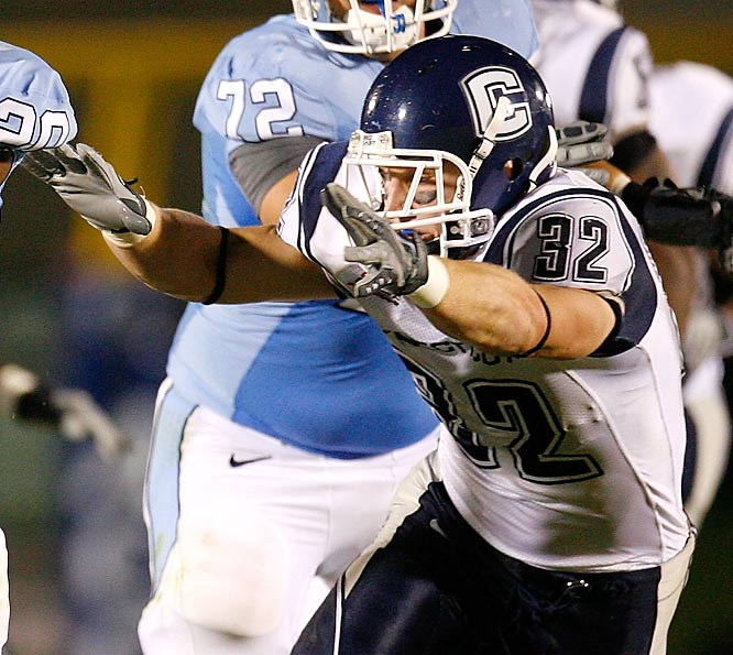 UConn had long viewed the lightly-recruited Lutrus as a steal, but he emerged as a force in 2008, notching 106 tackles while showing the versatility to shine at all three linebacker positions. He's earned praise this offseason for packing on more weight and taking on a larger leadership role.