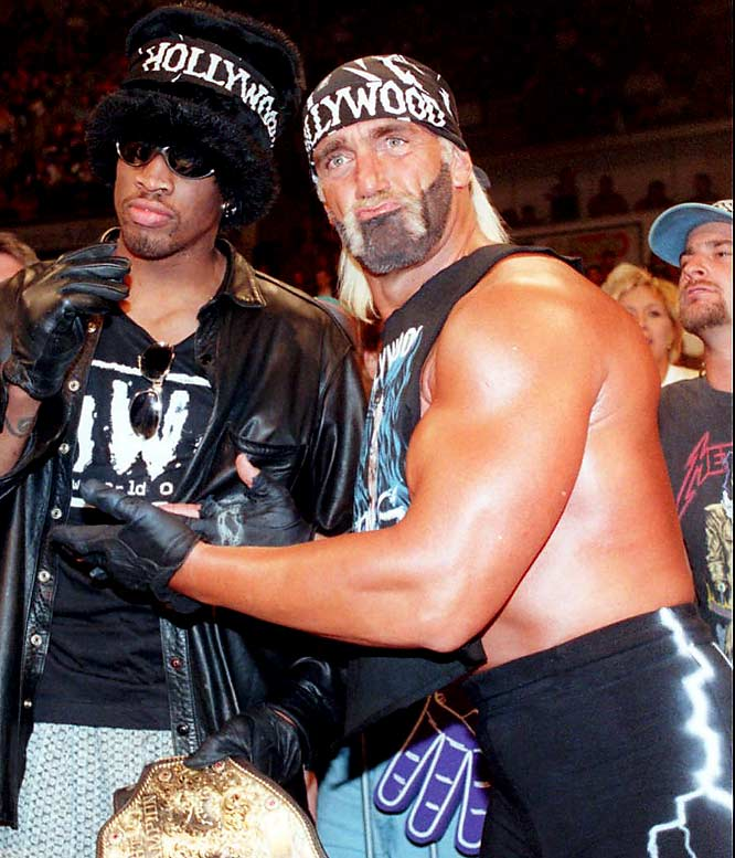 During the 1996 WCW Bash at the Beach, Hulk went Hollywood. After a surprise entrance, Hogan turned on the WCW team, joining with The Outsiders (Scott Hall and Kevin Nash). After the match (a no-decision) Hogan announced it was time for a New World Order. It was the birth of NWO and Hollywood Hogan, who replaced his familiar red and yellow with black and red and grew a beard, died black, to accompany his infamous moustache.