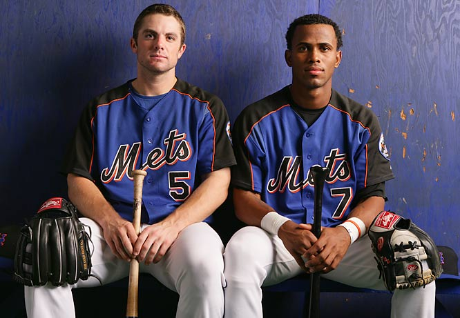 Jose Reyes and David Wright strike a serious pose for a 2005 SI photo shoot.