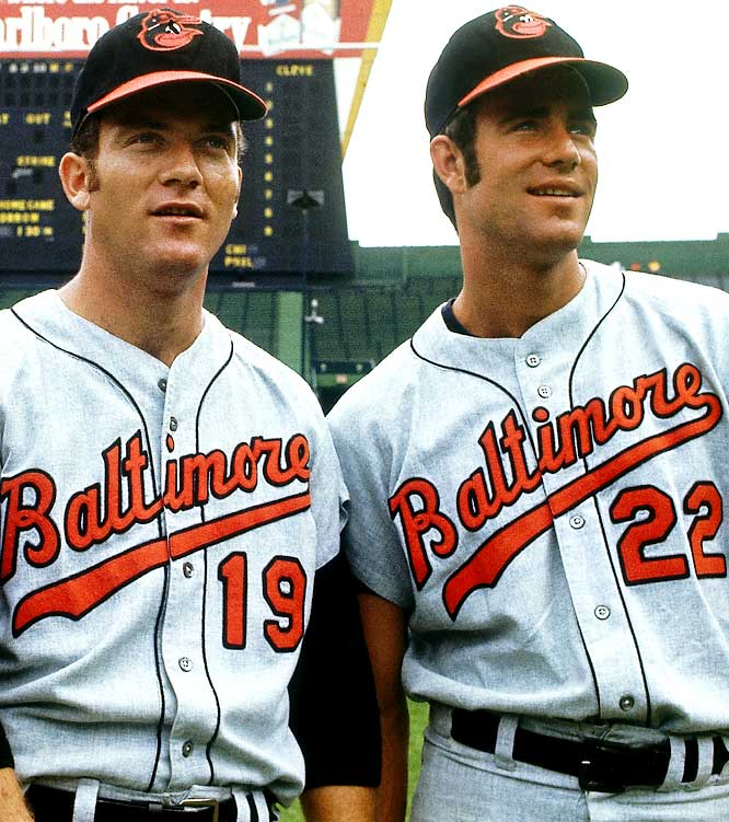This dominant duo put together some very impressive numbers during their nine seasons together. In the five-year period from 1969 to '73, Palmer and McNally combined to go 194-97.