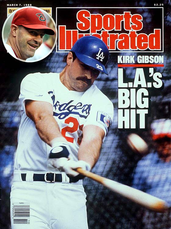 All managers listed have played in at least 300 major league games.   Kirk Gibson is one of baseball's newest managers, getting the interim tag with the Arizona Diamondbacks on July 1, 2010 after A.J. Hinch was let go. Gibson is best remembered for belting one of the greatest home runs in World Series history, a pinch-hit, two-run blast with two out in the bottom of the ninth inning that gave the Los Angeles Dodgers a 5-4 victory over Oakland in Game 1. The NL MVP in 1988, Gibson played for three other teams (Detroit, Kansas City and Pittsburgh).
