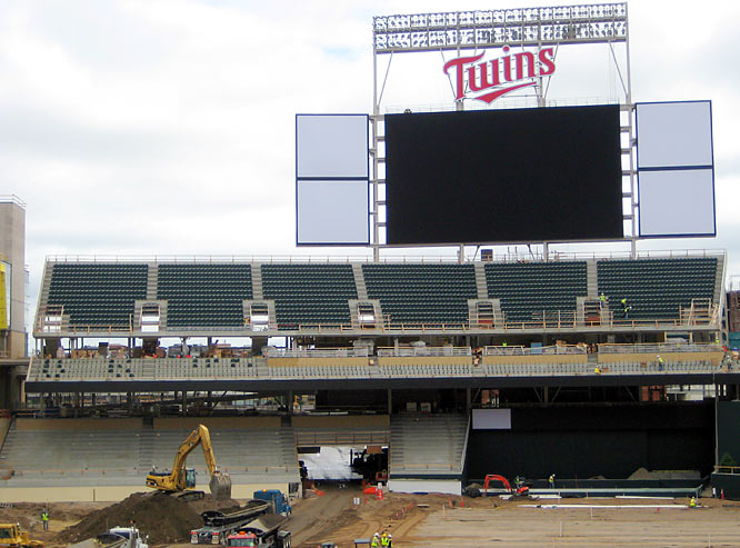 The fourth largest scoreboard in MLB, measuring 5,757 sq. ft. with full 1080 HD, is made by Daktronics of Brookings, S.D. and Redwood Falls, Minn.
