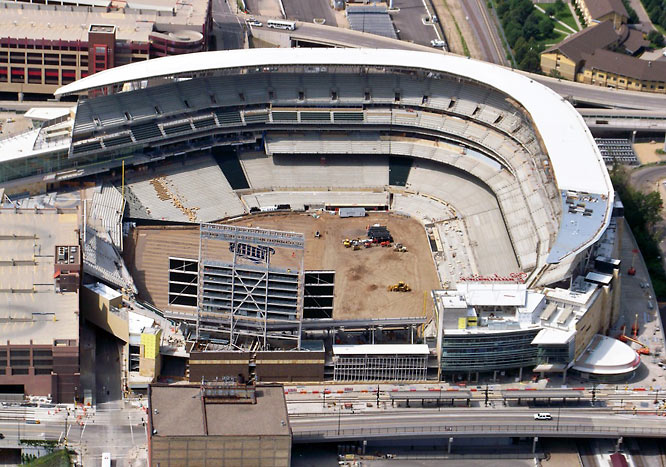 The open-air stadium allows Twins fans to enjoy the elements, something they haven't been able to do in the Metrodome.
