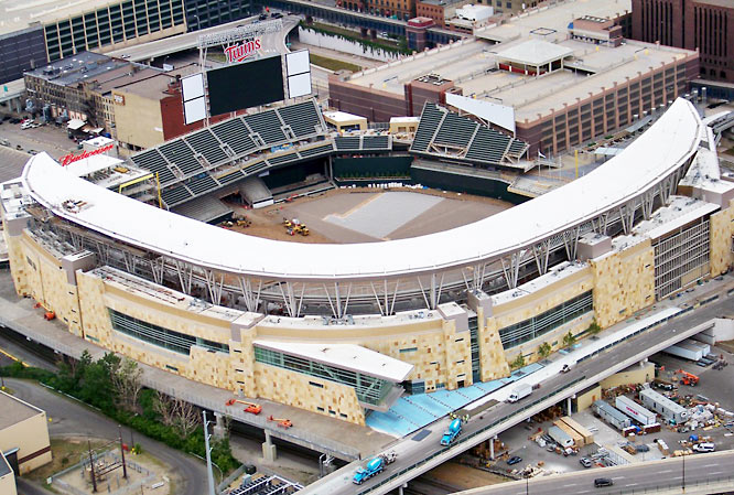 The 40,000-seat Target Field is set to open for the 2010 season.