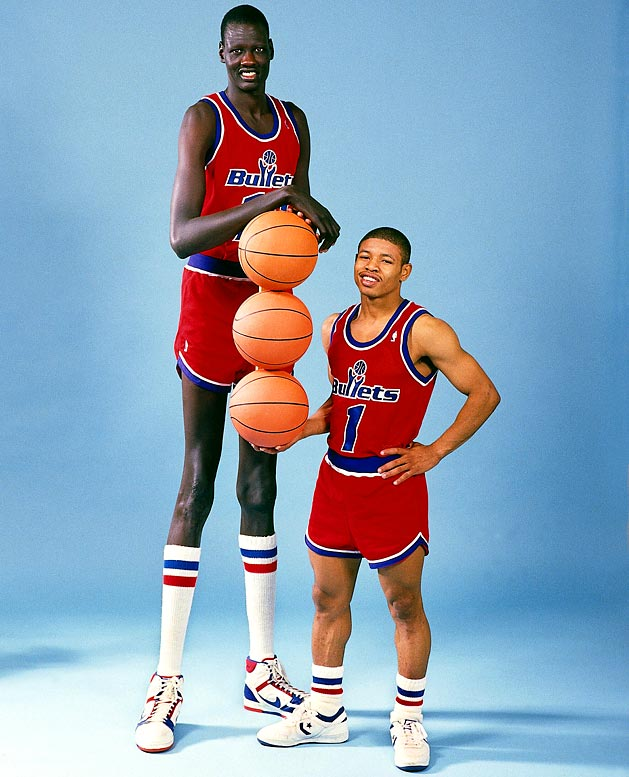 During their one season together in 1987-88, the tallest (Bol) and shortest (Bogues) men to ever play in the NBA combined for 2,764 minutes played, 569 points and three magazine covers.