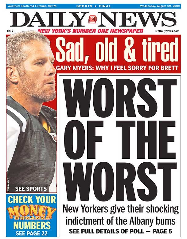Brett Favre Newspaper Headlines | SI com