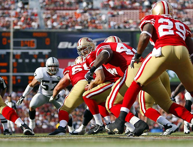 SI's best shots from the first two weeks of preseason games, beginning with 49ers rookie running back Glen Coffee (29), who ran for 129 yards against Oakland and 67 against Denver.<br><i>(Getty Images and AP shots after frame 35)</i>