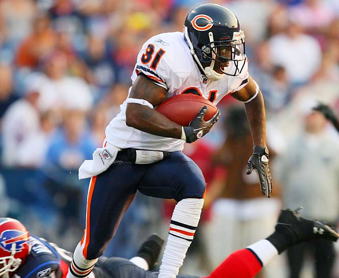 Rashied Davis hopes to be on the receiving end of a lot of Jay Cutler passes.