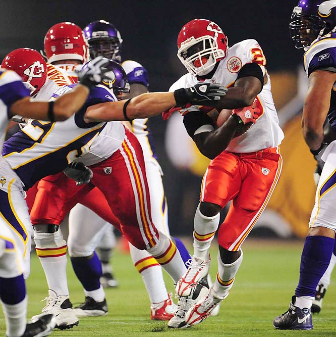 The Chiefs need a strong running game this season to keep the pressure off new quarterback Matt Cassel.