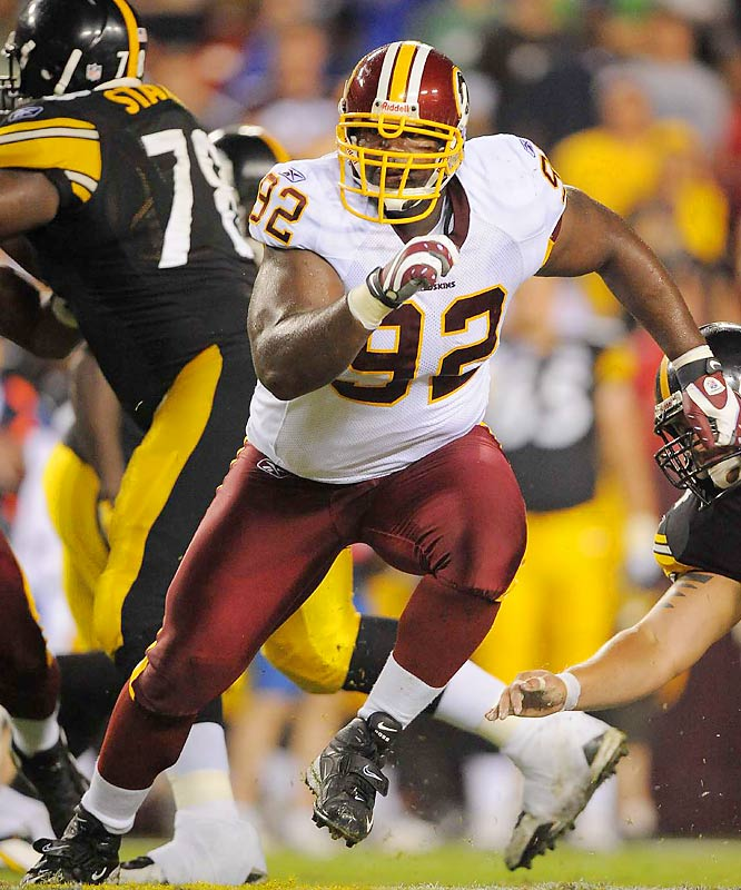 The Redskins are counting on the massive defensive tackle to make a difference in their bid to win the NFC East.