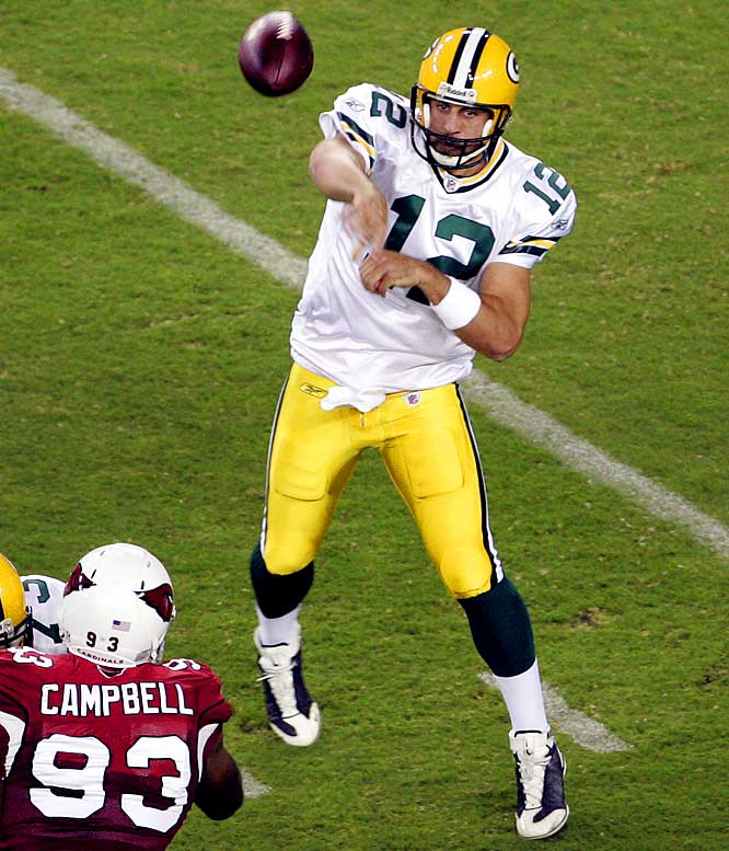 Aaron Rodgers threw for 258 yards and three touchdowns as the Packers opened a 38-10 halftime lead.  Rodgers finished 14 of 19 to improve to 28 of 37 in the preseason for 458 yards and six touchdowns with no interceptions. Green Bay has outscored its opponents 76-10 in the first half of their three preseason contests.