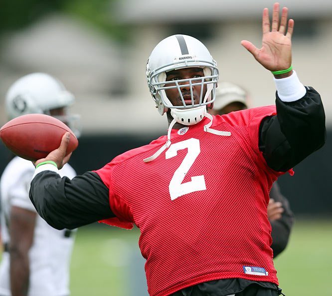 JaMarcus Russell and the Oakland Raiders opened training camp last week in Napa Valley.