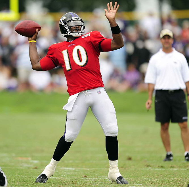 Backup quarterback Troy Smith has been taking some plays as wide receiver.