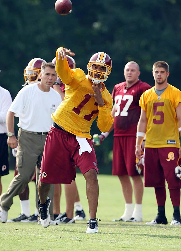 Jason Campbell and the Washington Redskins opened camp last week at Redskins Park in Ashburn, Va.
