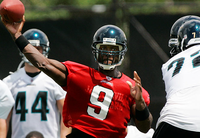 Jacksonville dropped eight of its last ten a year ago, but David Garrard played well enough to hang onto his starting job.