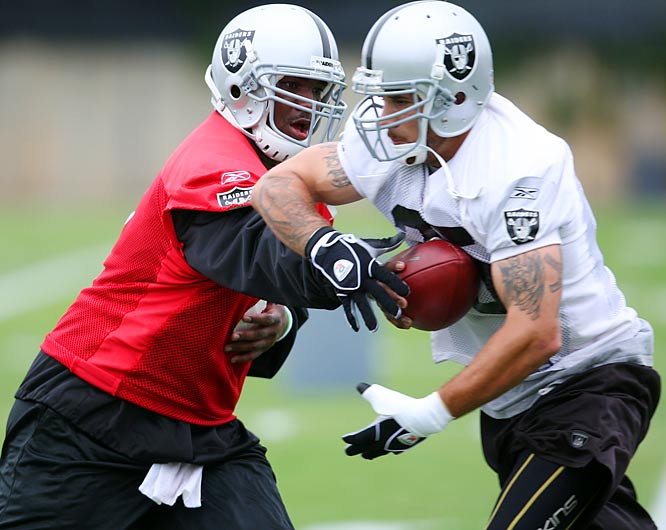 With a crowded backfield and the addition of Jeff Garcia, Raiders camp could see some battles.