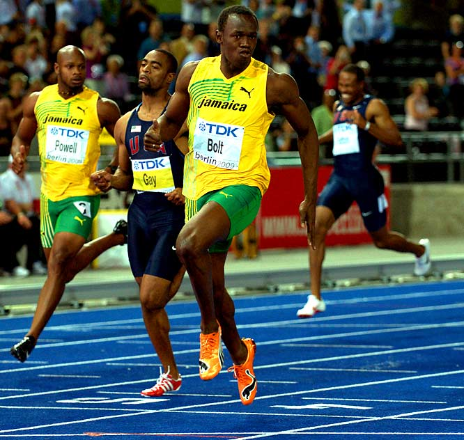 Never before has an athlete's last name so aptly described his or her abilities quite like that of Bolt, who broke his own record in the 100 meters with a 9.58 at the world championships in Berlin. There once was a time when anything under 10 seconds was considered flying; if that's the case, Bolt is running at warp speed right now.